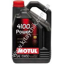 Масло моторное MOTUL 4100 POWER 15W-50 4L