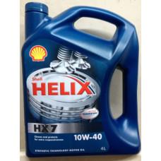 Моторное масло SHELL HELIX HX7 10W-40 4L